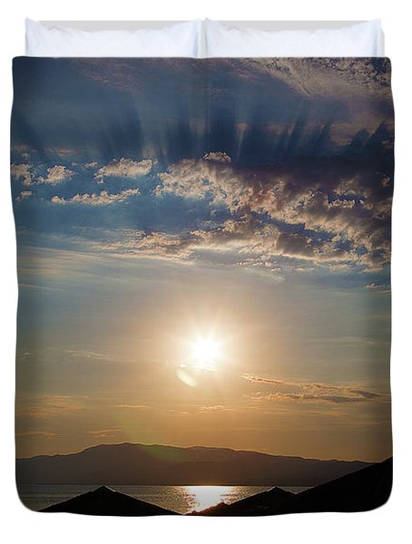 Duvet Cover featuring the photograph the Sky above Us by Milena Ilieva