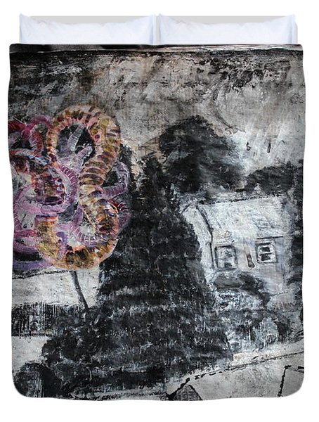 The Slow And Winding Tale Of Destruction Duvet Cover