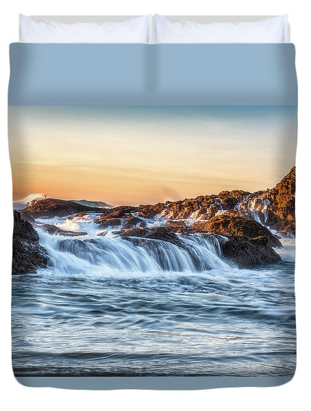 Duvet Cover featuring the photograph The Small Things by Russell Pugh