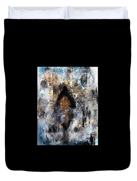 Duvet Cover featuring the painting The Sojourner  by 'REA' Gallery