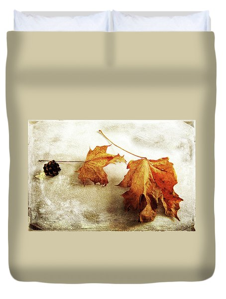 Duvet Cover featuring the photograph The Sound Of Autumn by Randi Grace Nilsberg