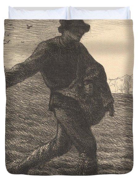 The Sower, 1851  Duvet Cover