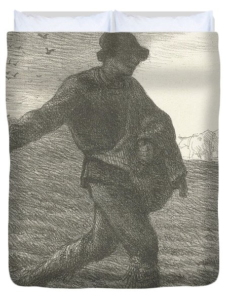 The Sower, 1851 Lithograph Duvet Cover