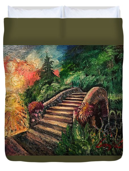 The Spirit Bridge At City Park  Duvet Cover