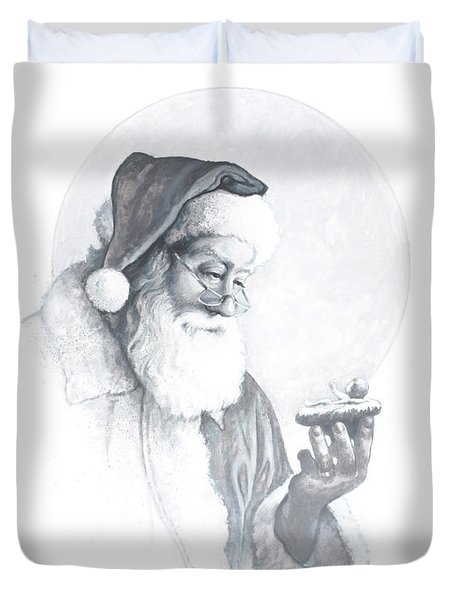 The Spirit Of Christmas Vignette Duvet Cover