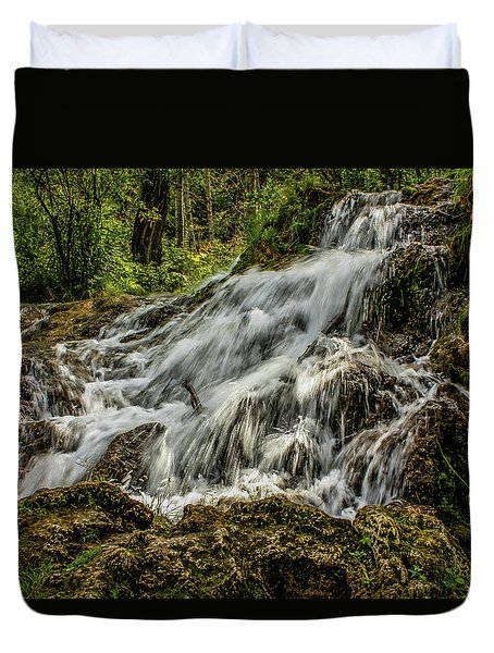 The Springs In It's Summer Green, Big Hill Springs Provincial Re Duvet Cover