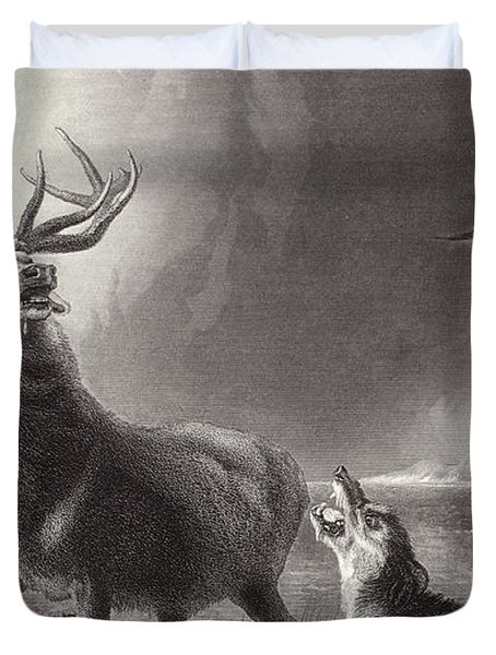 The Stag At Bay Duvet Cover