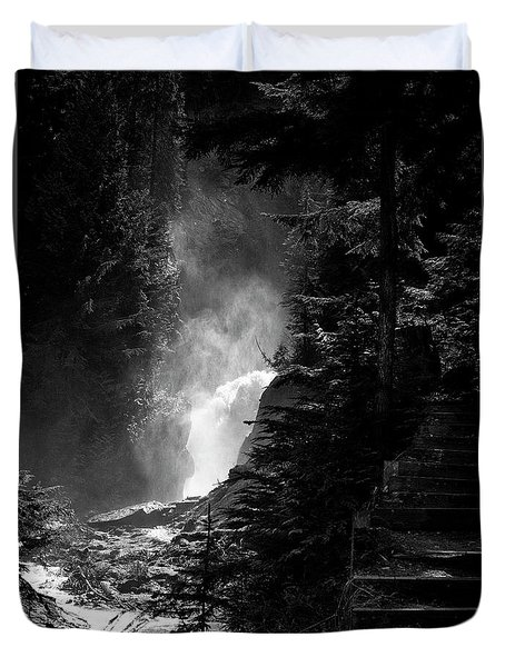 The Stairs At Bear Creek Falls Duvet Cover