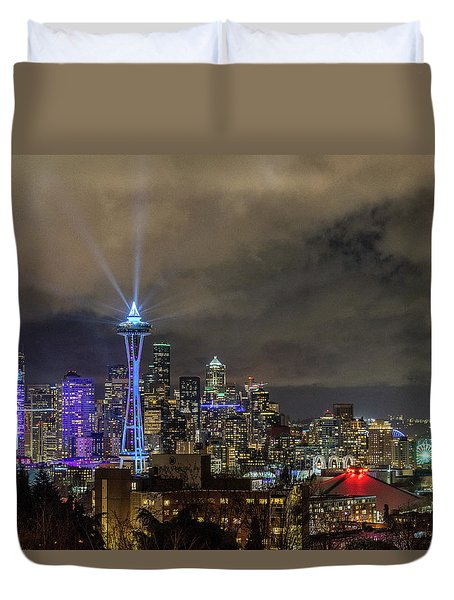 The Star Of Seattle Duvet Cover