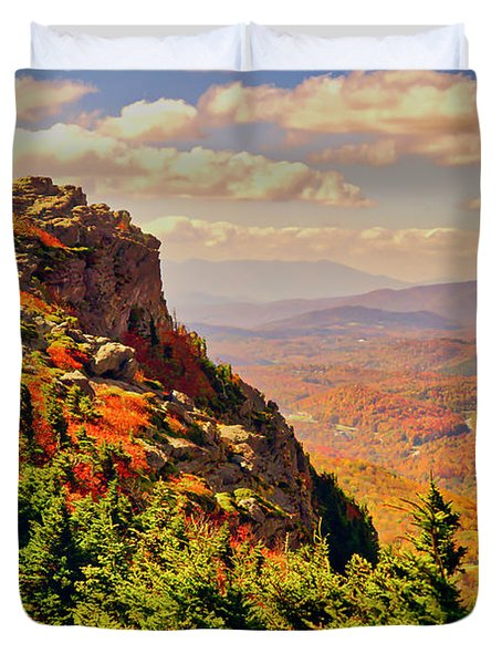 The Summit In Fall Duvet Cover