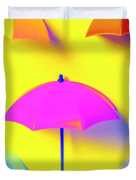 The Sun Shower Scene Duvet Cover