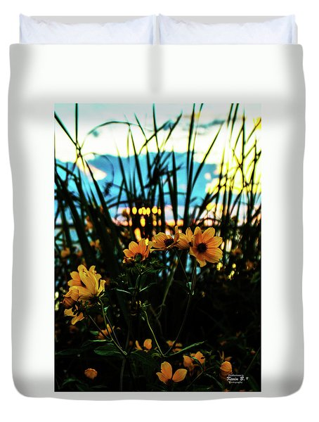 The Sunflower's Sunset Duvet Cover