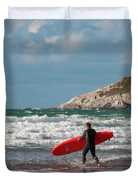 The Surfer Duvet Cover
