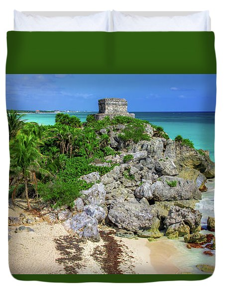 The Temple By The Sea Duvet Cover