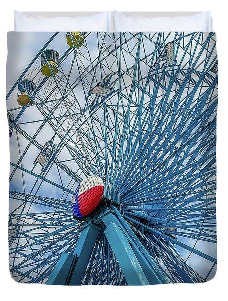 The Texas Star, State Fair Of Texas Duvet Cover