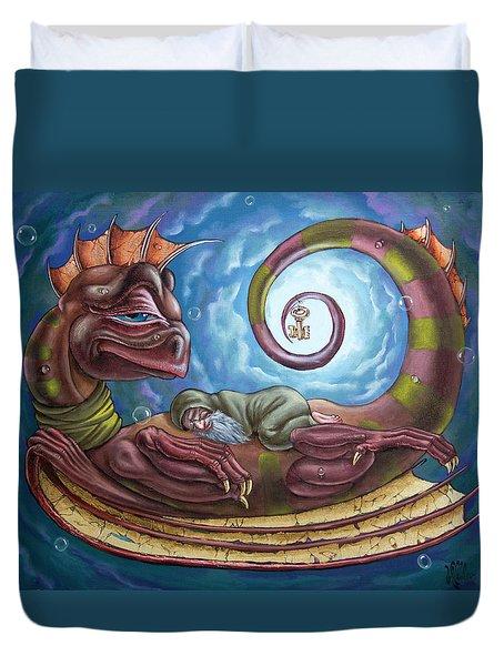 The Third Dream Of A Celestial Dragon Duvet Cover
