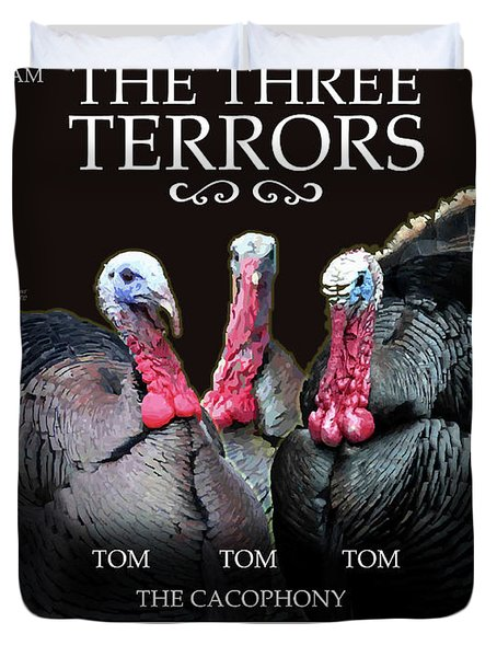 The Three Terrors Duvet Cover