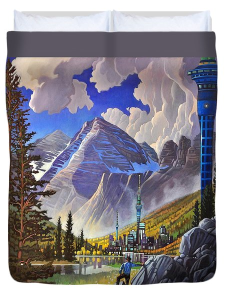 The Three Towers Duvet Cover