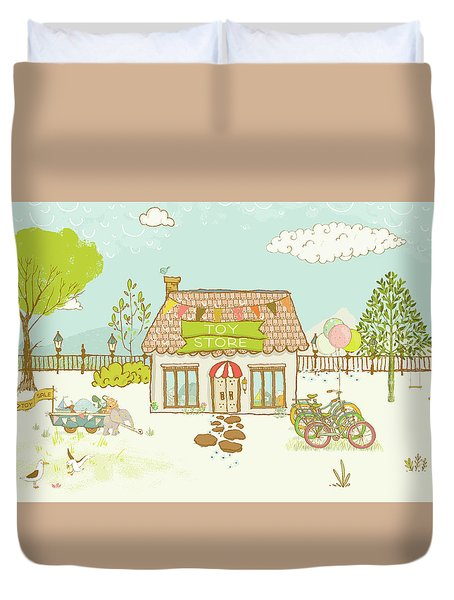 The Toy Store Duvet Cover