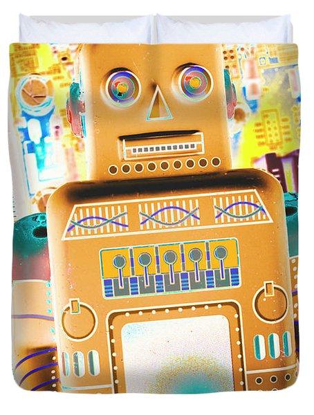 The Transistor Bot Duvet Cover
