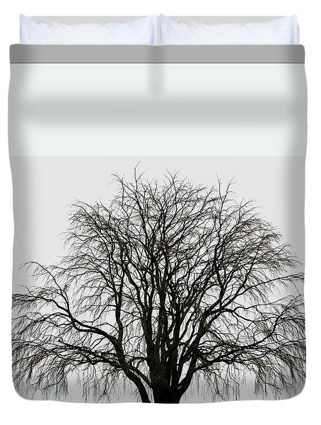 Duvet Cover featuring the photograph The Tree By The Side Of The Road by Jim Dollar
