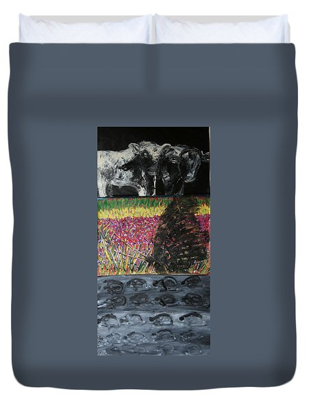 The Trickle Down Effect Duvet Cover