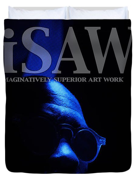 Duvet Cover featuring the digital art The Underground Artist by ISAW Company