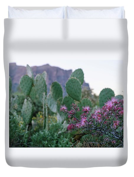 The Vibrant Desert Duvet Cover