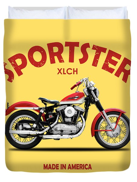 The Vintage Sportster Motorcycle Duvet Cover
