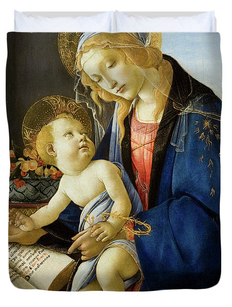 The Virgin And Child, The Madonna Of The Book Duvet Cover