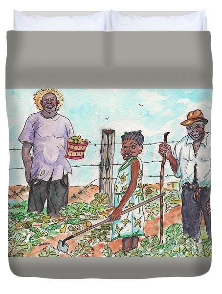 The Washington's - Our Neighbors On The Farm Duvet Cover