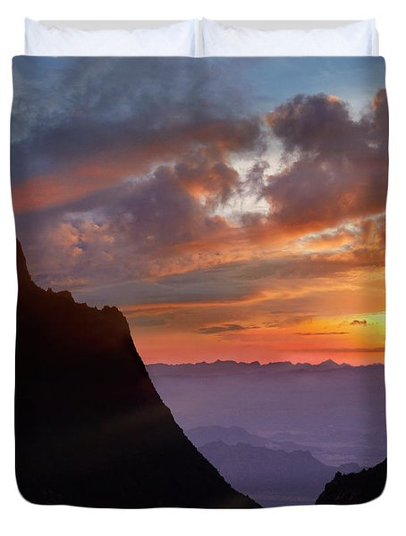 The Window At Sunset, Big Bend National Duvet Cover