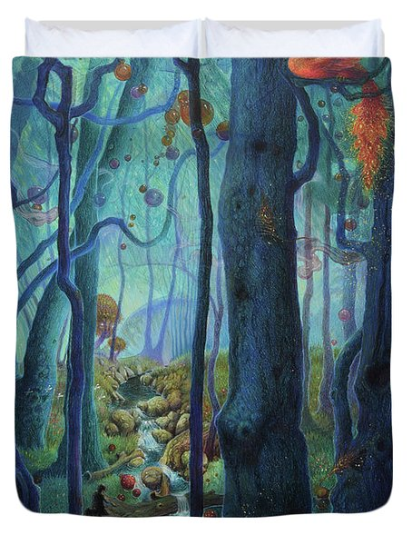 The World Between The Trees Duvet Cover
