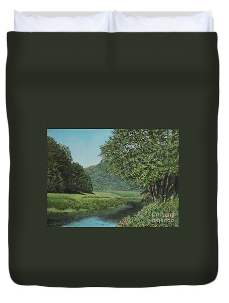 The Wye River Of Wales Duvet Cover