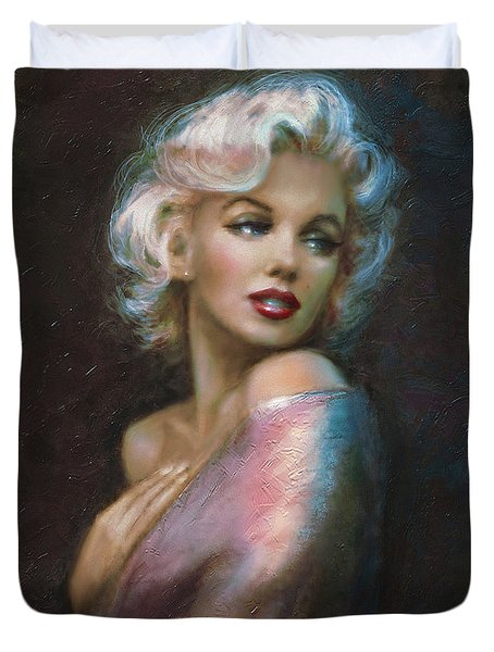 Theo's Marilyn Ww Blue Duvet Cover
