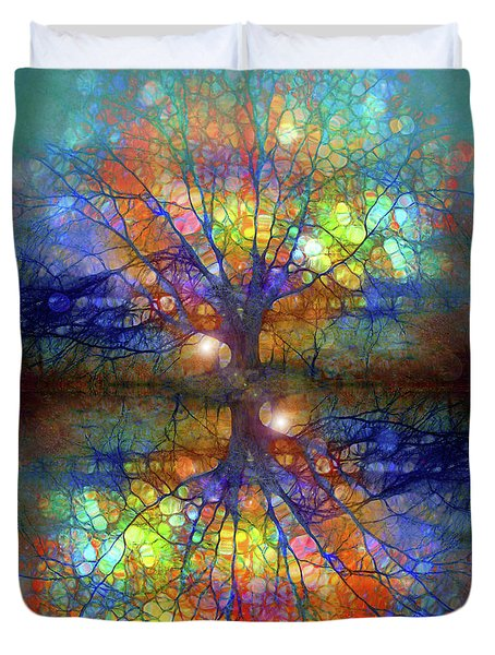 There Is Light Even In These Dark Roots Duvet Cover