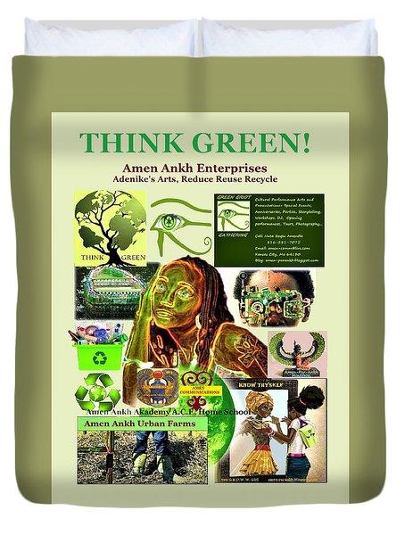 Think Green Duvet Cover