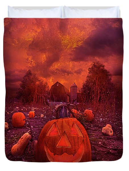 Duvet Cover featuring the photograph This Is Halloween by Phil Koch