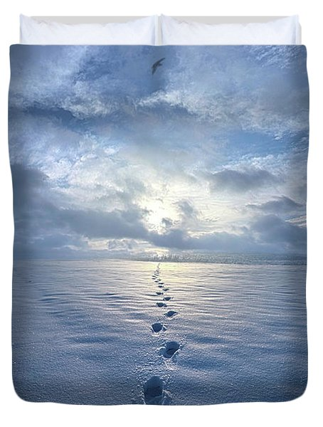 Duvet Cover featuring the photograph This Is When I Carried You by Phil Koch