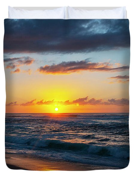 This Is Why They Call It Sunset Beach Duvet Cover
