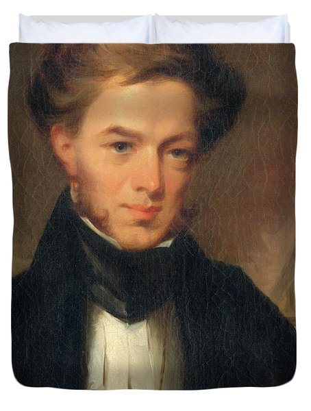 Portrait Of Thomas Ustick Walter, 1835 Duvet Cover