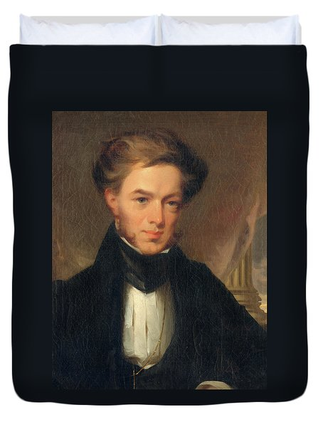 Portrait Of Thomas Ustick Walter, 1835 Duvet Cover