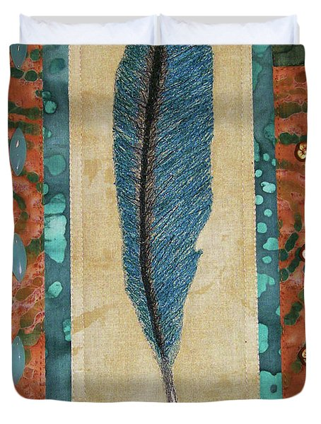 Threaded Feather Duvet Cover