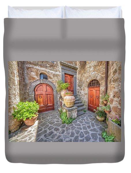Three Doors Of Tuscany Duvet Cover