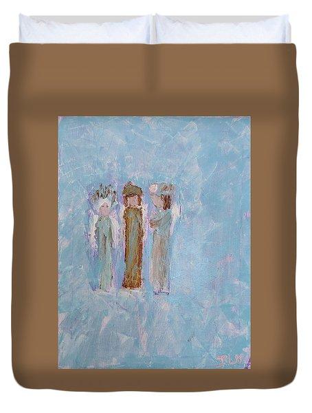 Three Friendly Angels Duvet Cover