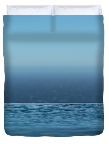 Three Layers Of Blue Duvet Cover