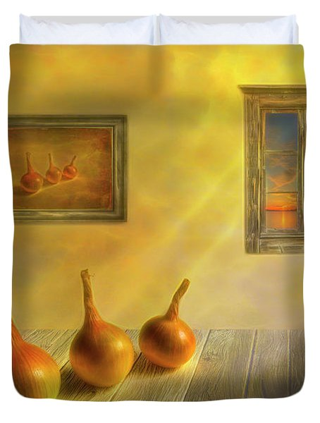Three Onions Duvet Cover