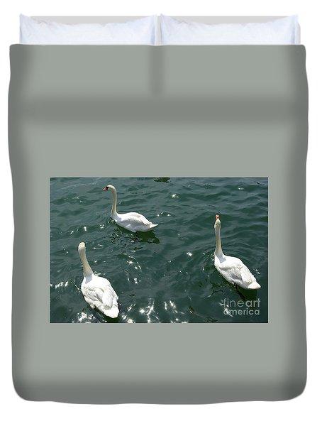 Three White Swans Duvet Cover