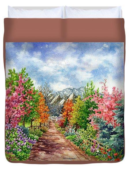 Through All Seasons Duvet Cover