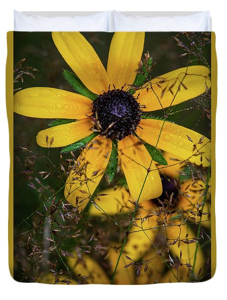 Duvet Cover featuring the photograph Through The Meadow Grasses by Dale Kincaid